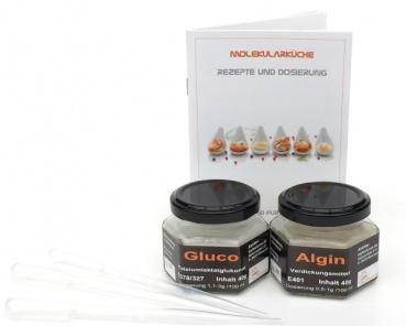 Gluco, Algin Set mit Rezept und Pipetten